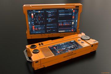 Flight Controller - Sci-fi device and FUI concept